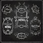 Restaurant labels chalkboard