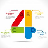 creative number '4' info-graphics design concept vector