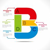 creative alphabet  B  info-graphics design concept vector
