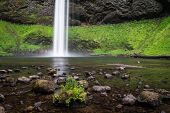 Base Of South Falls In Oregon's Willamette Valley