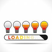 creative loading design using of light bulb concept vector