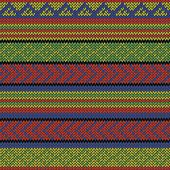 image of rastaman  - bright multi colored seamless knitted aztec pattern - JPG