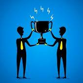 big winning trophy or celebrate success concept