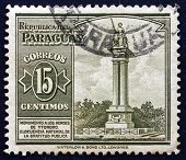 Postage Stamp Paraguay 1946 Monument To Heroes Of Itororo