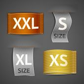 Постер, плакат: Clothing labels set