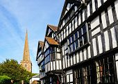 Timbered buildings, Ledbury.