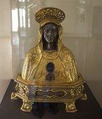 Figurines in San Lorenzo Maggiore church, Naples, Italy