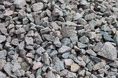Crushed Stones Texture Or Background