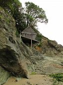 Beach Cliff House Seascape