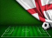 Soccer or football background with flag of England