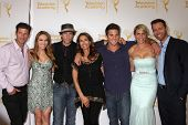 LOS ANGELES - JUN 19:  G Vaughn, Chrishell Stause, S Christian, Kristian Alfonso, Arianne Zucker, Eric Martsolf at the Daytime Emmy Reception at the London Hotel on June 19, 2014 in West Hollywood, CA