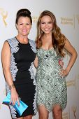 LOS ANGELES - JUN 19:  Melissa Claire Egan, Chrishell Stause at the ATAS Daytime Emmy Nominees Recep