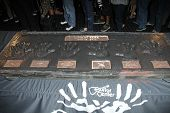 LOS ANGELES - JUN 18:  Linkin Park handprints at the Linkin Park Rockwalk Inducting Ceremony at the