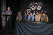 LOS ANGELES - JUN 18:  Linkin Park at the Linkin Park Rockwalk Inducting Ceremony at the Guitar Cent