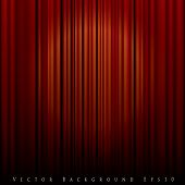 vector background with spot light on red curtain