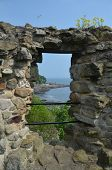 View Through Castle Window