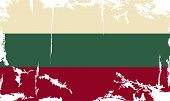 Bulgarian grunge flag. Vector illustration