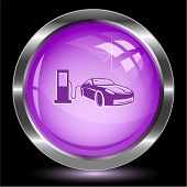 Car fueling. Internet button. Vector illustration.