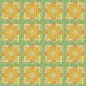 Seamless Yellow Geometric Texture