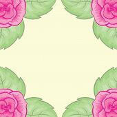 beautiful bright floral background vector