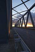 Beldorf - Gruenental Bridge At Sunset