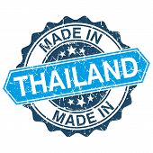 Made In Thailand Vintage Stamp Isolated On White Background