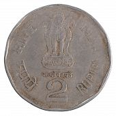 Old Two Indian Rupee Coin