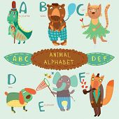 pic of alligator  - Cute animal alphabet - JPG