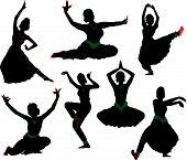 indische Tänzer-Kontur