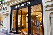 Luxury Louis Vuitton shop inside the famous Gum shopping mall in Moscow