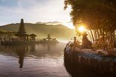 pic of hindu temple  - Pura Ulun Danu temple - JPG