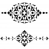Ottoman Motifs Black Design Series Of Fifty Four