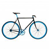 Stylish Blue Bicycle Isolated On White