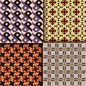 Retro textile patterns background