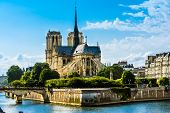 stock photo of notre dame  - Cathedrale Notre - JPG