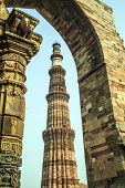 pic of qutub minar  - Qutub Minar Tower or Qutb Minar the tallest brick minaret in the world Delhi India - JPG