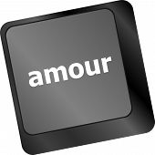 Computer Keyboard With Amour Word On Enter Button