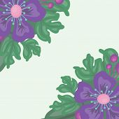 bright floral background with space for text