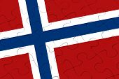 Norway Nation Flag Jigsaw Puzzle
