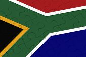 South Africa Nation Flag Jigsaw Puzzle