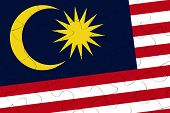 Malaysia Nation Flag Jigsaw Puzzle