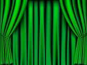 green curtain vector for background