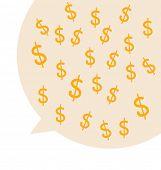 Dollar Signs Design. Modern Flat design vector illustration concept.
