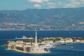 stock photo of messina  - Scenic view of the Italian port of Messina - JPG