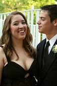 Prom Boy Gazing At Smiling Date