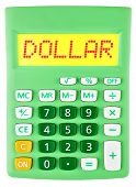 Calculator With Dollar On Display