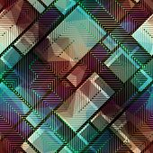 Abstract matrix pattern on geometric background