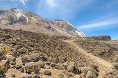 Great Penck & Little Penck Glaciers, Kibo, Kilimanjaro National Park, Tanzania, Africa