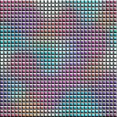 Relief mosaic tile with gradient pattern.