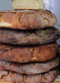 Loaves Of Genuine Apulian Bread For Sale In Southern Italian Bakery